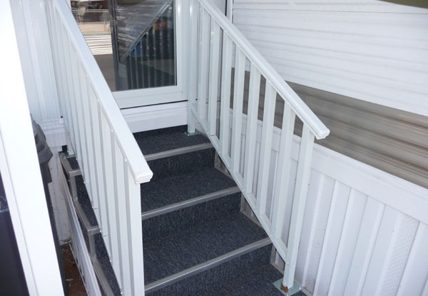Aluminum Hand Rails, Carpet & Bullnose Trim