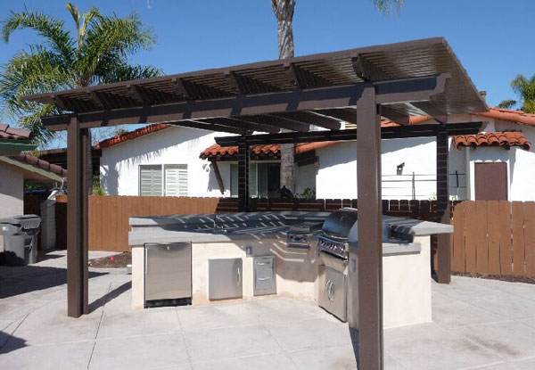 Outdoor Barbeque Free Standing Patio Cover
