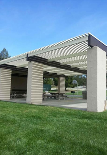 Outdoor Freestanding Lattice Patio Cover