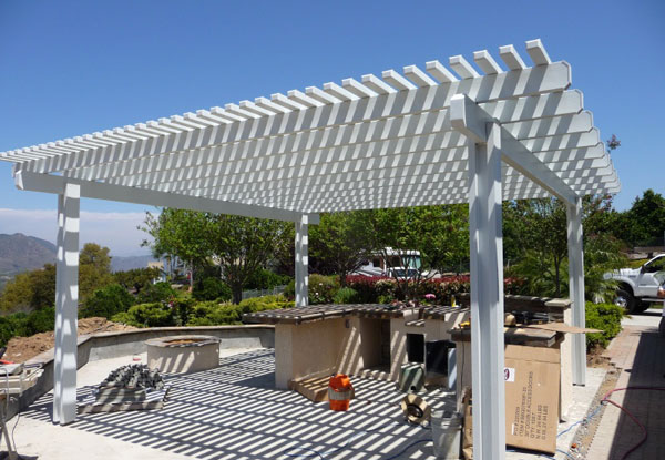 how to build a freestanding wood patio cover