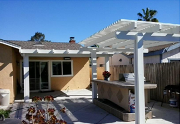 Freestanding Lattice Patio Cover Mira Mesa