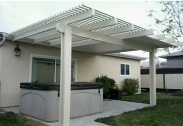 Lattice U0026 Solid Patio Cover
