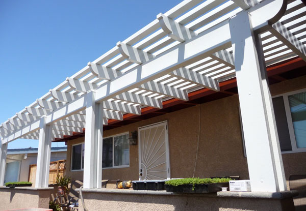 Durable Lattice Patio Cover La Mesa