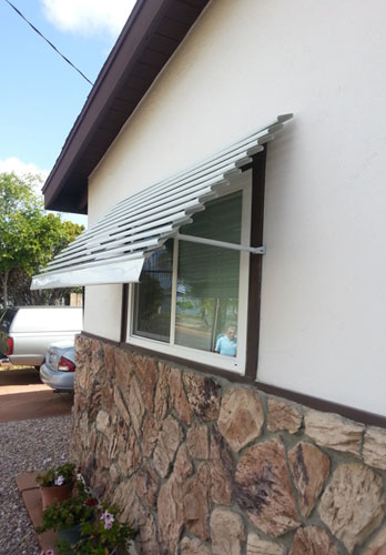 Privacy & Heat Protection Window Awnings