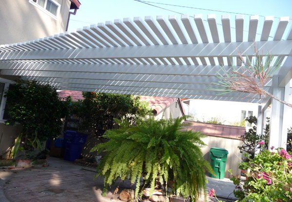 Pacific Beach Custom Cut Lattice Patio Cover