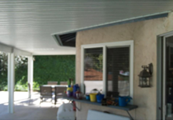 Aluminum Wood Grain Patio Cover