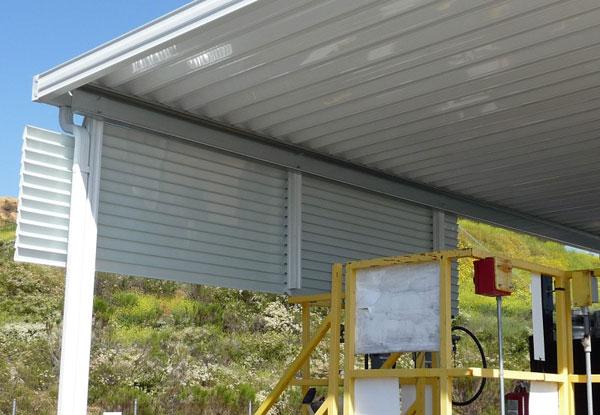 Aluminum Windbreak Installation Lakeside