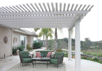 Covered Patio Attached to Home